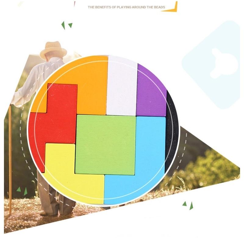 Puzzle en bois jouets Tangram Jigsaw Briques Jouet Cadeau De Noël - Jeux et casse-tête - Photo 4