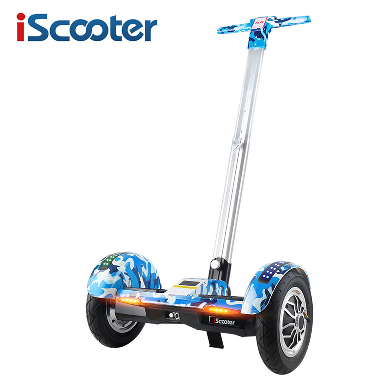 IScooter ХОВЕРБОРДА 10 дюймов два колеса балансируя Скутер samsung батарея Bluetooth с ручкой стоя баланс Hover доска