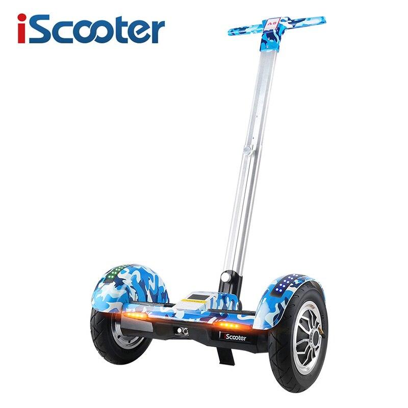 IScooter Hoverboard 10 pouce Deux Roues Auto Équilibrage Scooter Samsung Batterie Bluetooth avec Poignée Équilibre Debout Hover bord