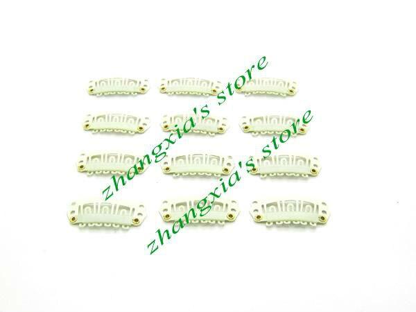 Hot Sale 2.8cm 6 Teeth Hair Clip for Hair Extensions,Toupees Clips,Wig Clips,Hair Extensions Tools,Blonde,100pcs,Free Shipping