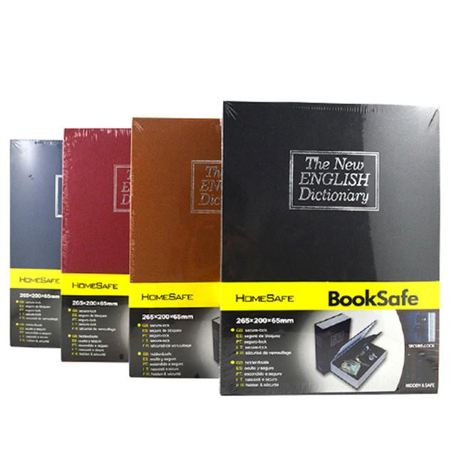 Hot Segurança Dinheiro Caixa de Dinheiro Dicionário Simulação Cofre Caixa de Aço Preto Invisível Bloqueio Caixa de Jóias Armário Cofre Pessoal