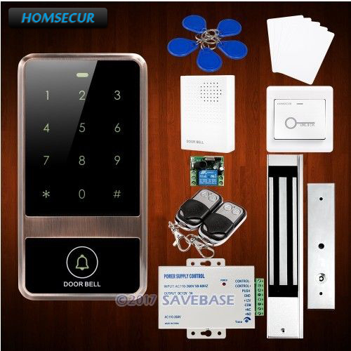 HOMSECUR Waterproof Metal Case Access Control IC Reader System+Waterproof 280KG Magnetic Lock все цены