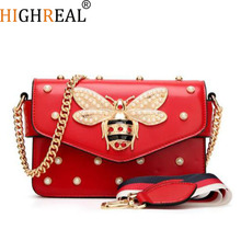 New Famous Brand Women Messenger Bags Small Chain Crossbody Bags Female Luxury Shoulder Bag Pearl Handbag 2019 Red White Black