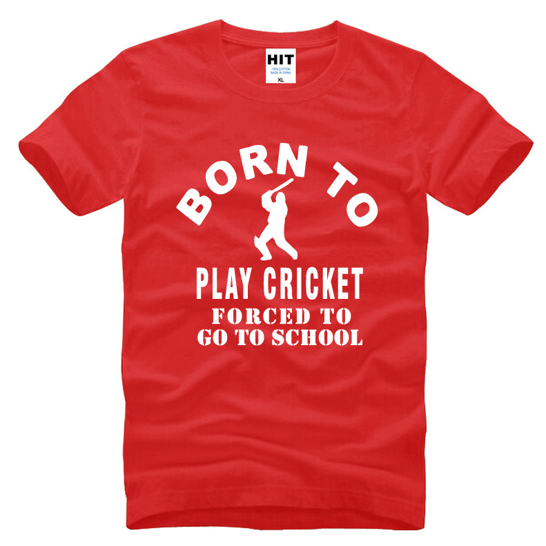 dab14bb91c8 Born To Play Cricket Creative Funny Novelty T Shirt T Shirt For Men 2018 New  Short Sleeve O Neck Cotton Casual Top Tee-in T-Shirts from Men s Clothing  on ...