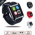 U80 relógio inteligente do bluetooth android mtk smartwatchs para samsung s4/note 2/note3 htc xiaomi para android u8 telefone pk gt08 dz09