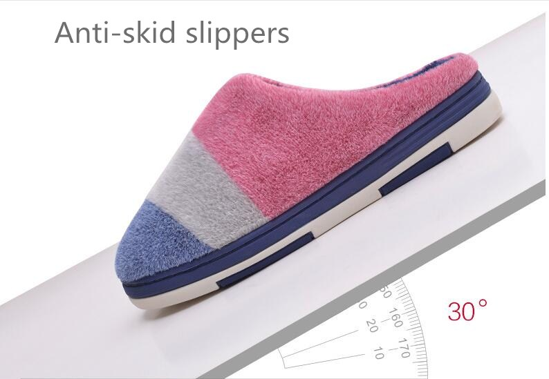 Soft House Slippers Women Men Home Shoes Cute Bedroom Foot Warmer ...