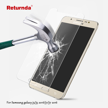 Return 9H 2.5D Tempered Glass film for Samsung Galaxy J5 J7 j5 2016 J7 2016 HD Clear Phone Premium Screen Protector Film