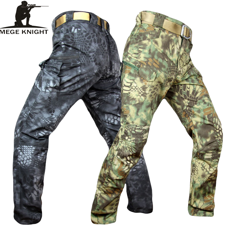 Mege Knight Band Clothing Tactical Camouflage Military Pants Men Rip-stop SWAT Soldier Combat Trousers Militar Work Army Outfit