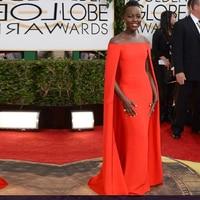 Robes De Soiree Red Capet Evening Dress Golden Globe Award Lupita Off Shoulder sexy Fancy Cape Cloak Evening Gowns
