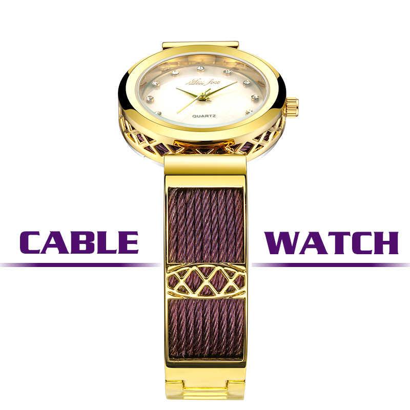 MISSFOX наручные часы для ношения с платьем для женщин Бренды Geneva женские часы женские браслет из нержавеющей стали модные женские золотые часы