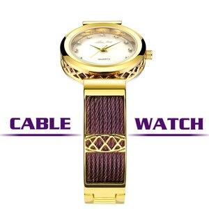 Image 5 - MISSFOX elbise bilek saatler kadın markaları için cenevre bayanlar saatler kadın paslanmaz çelik bilezik moda bayan altın izle