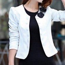 Корейский мода блейзер Feminino плюс размер 3XL с длинными рукавами Bleiser mujer свободного покроя 4 цветов милые женщины костюмы