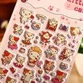 Material de Espuma Eva Etiqueta hinchada Pegatinas Gato Animal de Diy Pegatinas Bloc de notas Notebook Pegatinas Portátiles Baratos Niñas Juguete
