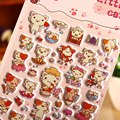Puffy Sticker Eva Foam Material Cat Stickers Animal Diy Scrapbook Sticker Notebook Laptop Stickers Cheap Girls Toy
