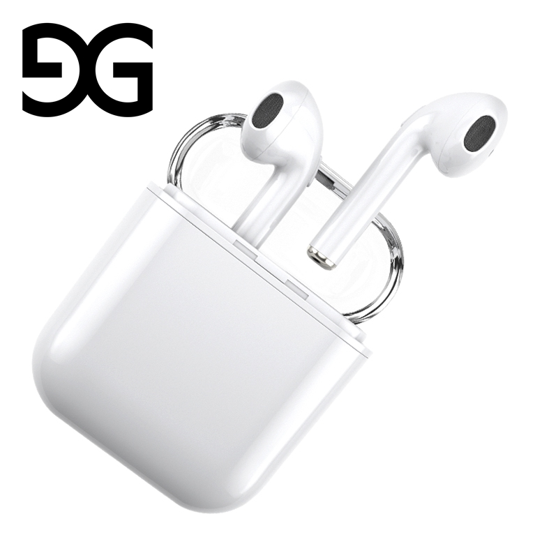 Bluetooth Earphone, GUSGU Mini Wireless Sports Earphone Stereo-Ear Earphones with Noise Canceling and Charging Case for iPhone dbigness sport running bluetooth earhook headphone mini wireless earphone stereo noise canceling auricular for xiaomi iphone