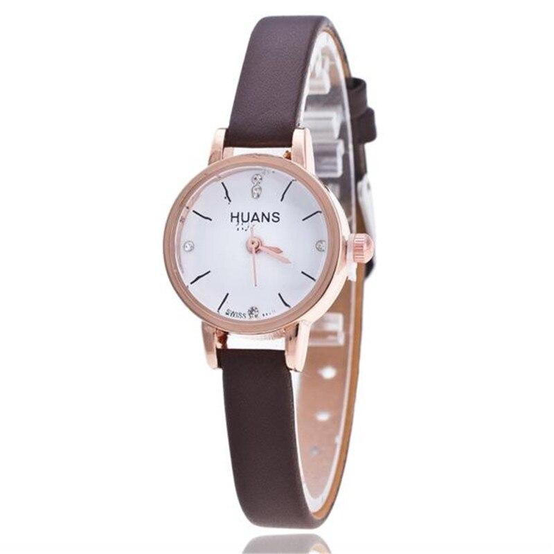 Fashion Women Watch Thin Leather Strap Quartz Wrist Watches Women Luxury Rhinestone Dress Watch Clock Relogio Feminino