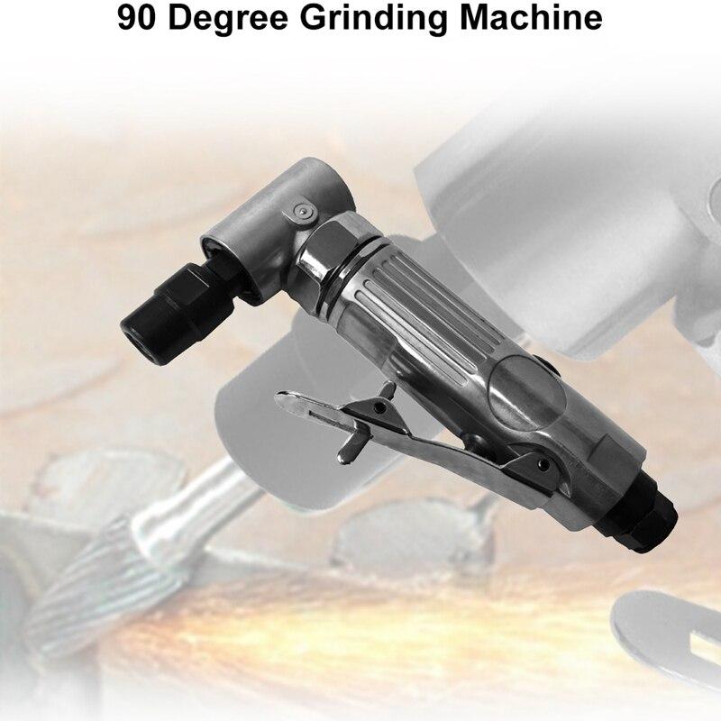 1/4 zoll Luft Winkel Sterben Schleifer 90 Grad Pneumatische Schleifen Maschine Cut Off Polierer Mühle Gravur Werkzeuge Set Mit Spanner wre
