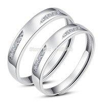 925 серебряное кольцо открытия пара кольцо женщин подарок желание ман мизинец кольца большие ярдов могут быть надписи