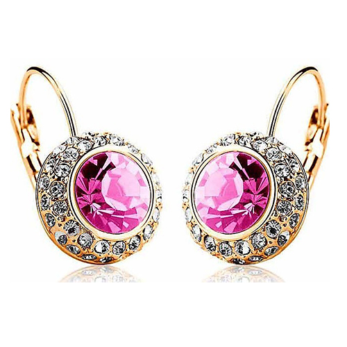 Best Quality Elegant Crystal Dangle Round Created Earrings with Rhinestone Round River 5TN9 6SCH