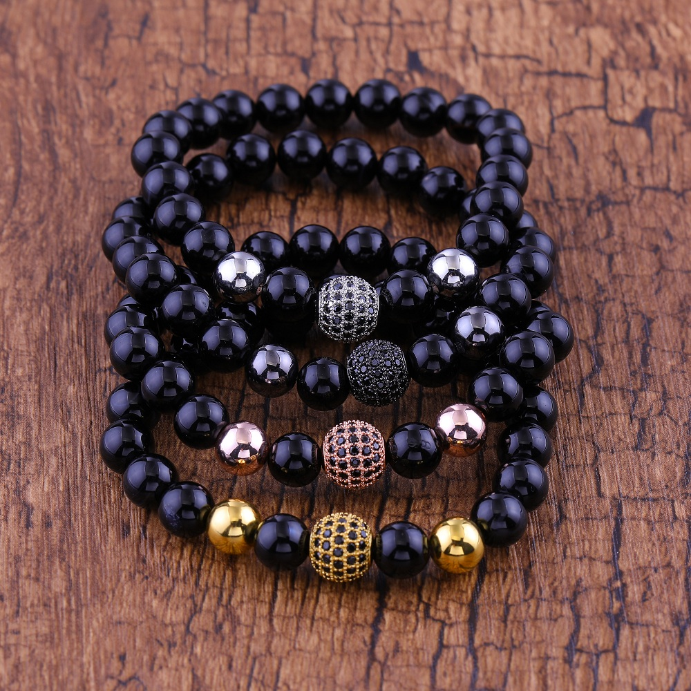 JUWANG-8mm-Lava-Smatte-Stone-Beads-Bracelet-for-Man-and-Woman-Black-CZ-Ball-Charm-Bracelets