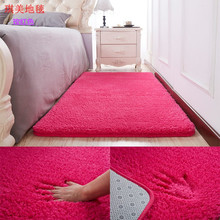Plush Fabric Anti-slip Mat Thick Floor Carpets for Living Room Plain Color Bathroom Water Absorption Floor Rug Mat Cuatom Size