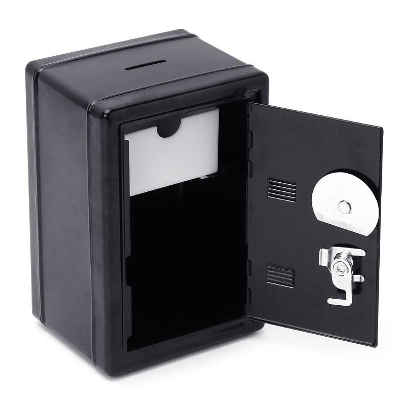 New Safe Security Metal Money Bank Cash Deposit Savings Saving Box 2 Keys