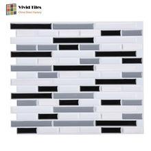 Self Adhesive Vinyl Wallpaper 3D Peel and stick Wall Brick Tile for bathroom kitchen backsplash - 1 Sheet