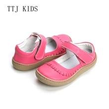 Copodenieve トップブランド品質本革の子供の幼児ガールのためのファッション裸足スニーカーメアリージェーン送料船