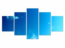 5 Pieces High Quality Modern Printed On Canvas Blue Sky Wall Painting Beautiful Under Sunset Pictures Home Decor Framed