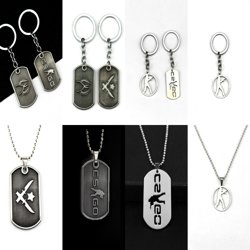 Online Game CS GO Stainless Steel Necklace For Men CSGO Anime Pendant Male Collier Homme Best Friends Statement Bijoux Jewelry