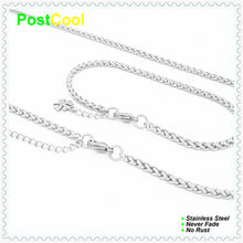 Chain Width 3MM Keel Style Fashion Jewelry Sets 100% Stainless Steel Necklace 40/50/60/70/80/90cm/Bracelet 18/20/22cm 15 DIY(China)