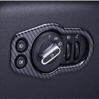 Auto Interni In Fibra di Carbonio Faro Alloggiamento Della Copertura Decorativo Pannello di Controllo Trim Telaio Per Mini Cooper F55 F56 F57 Accessori