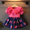 Children Set Kids Suit Outfits Girl Dress Summer Top+Skirt 2 pcs Baby Flower Skirt Suits Kids Clothing 5 S/L