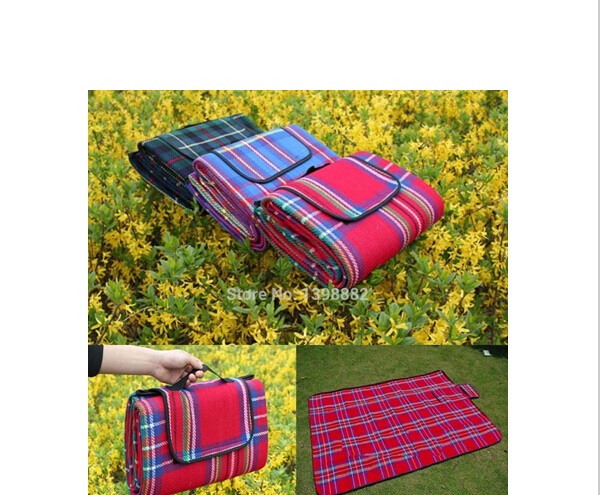 200x150cm plaid pattern picnic mat waterproof outdoor cing blanket in cing mat from