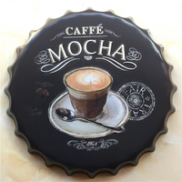 COFFEE MOCHA Large Beer Cover Tin Sign Logo Plaque Vintage Metal Painting Wall Sticker Iron Sign Bar KTV Store Decorative 40 CM