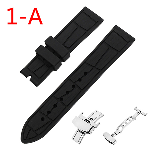 24mm Silicone Rubber Watch Band for Suunto Core Watchband Men Women Resin Strap Wrist Loop Belt Bracelet Black + Tool + Pin | Watchbands