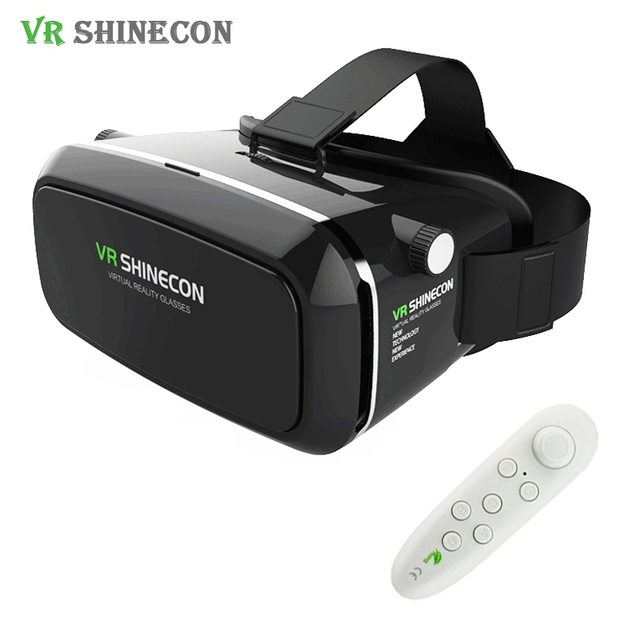 Original VR Shinecon Pro Head Mount Virtual Reality 3D Glasses 360 viewing Cardboard Headset VR BOX Helmet For4-6' Mobile Phone
