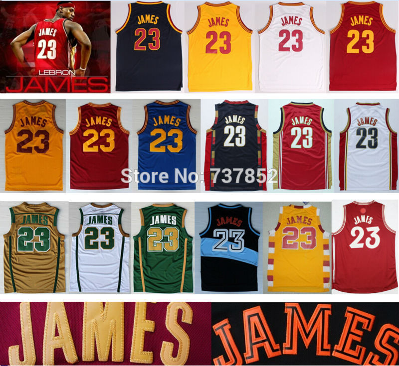 huge discount 58e6a 6c43f Cheap Men's Lebron James Jersey 2016 New Red Yellow White ...