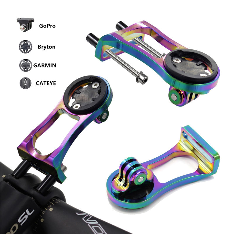 3 in 1 Bicycle <font><b>Computer</b></font> Bracket Headlight Clamp <font><b>Bike</b></font> Handlebar Extension Bracket Adapter for GARMIN Edge <font><b>GPS</b></font> for Gopro Hero image
