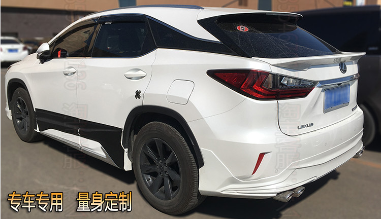 ABS Plastic Unpainted Color Rear Roof Spoiler Trunk Boot Wing Car Accessories For <font><b>Lexus</b></font> <font><b>RX200t</b></font> RX450h 2016 2017 2018 image