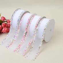 New DIY Color Printing Webbing 3.8cm * 20 Yards Gift Packaging Crafts Clothing Lace Jewelry Decorative Background Edge Banding