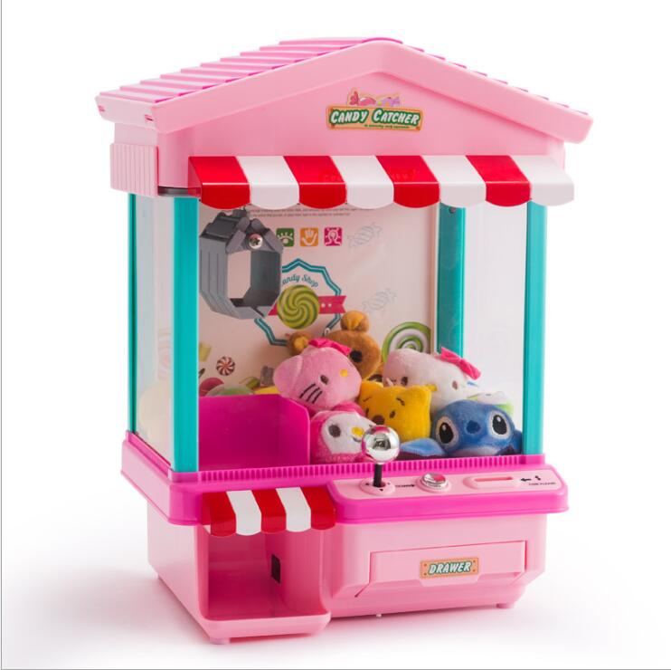Mini All-in-one coin candy Doll grabber machine Fun Catch parent-children interaction D051 цена