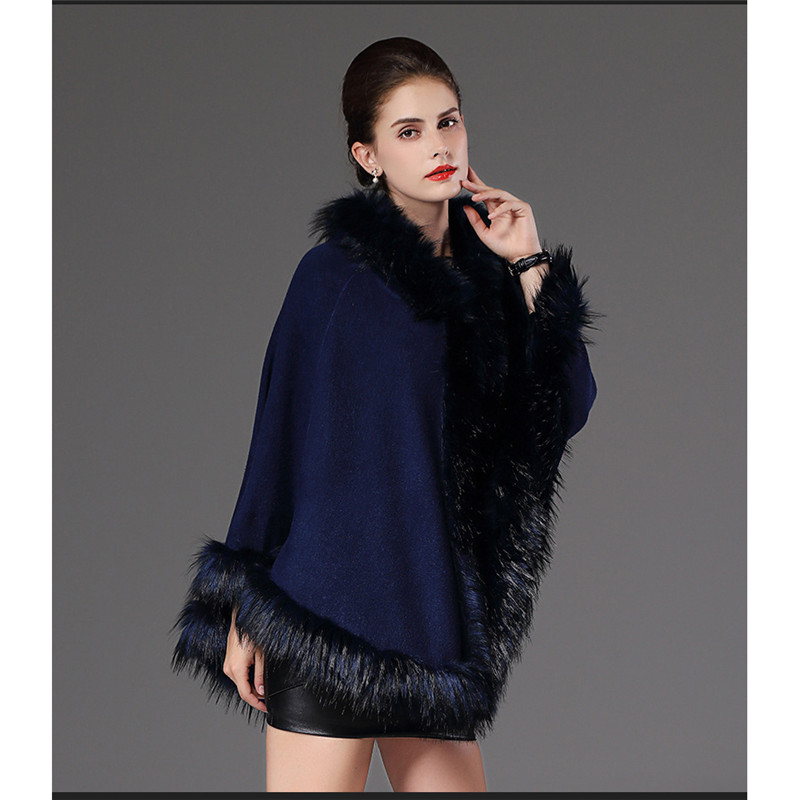 Faux fur coat women Black jujube red navy 019 new europe and america hooded long sleeve loose fashion slim faux fur jacket LR353 in Faux Fur from Women 39 s Clothing