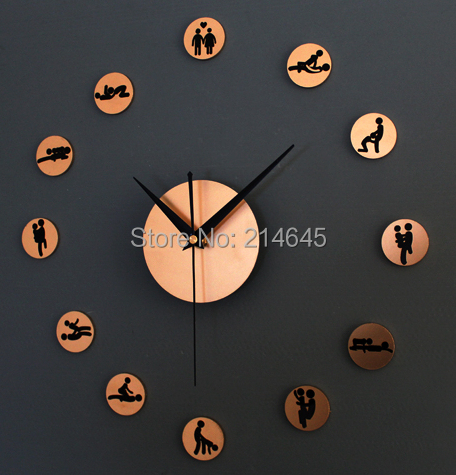 4bc47ed8d27 M29 24 Horas de diversão Criativa DIY relógio de parede DIY SEXUAL  Sexo Novidade Relógio