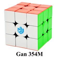 GAN354M 3x3x3 магический куб без наклеек с магнитной Ган м 354 м головоломка Скорость Cube для WCA Professional Cubo Magico Ган 354 м игрушечные лошадки