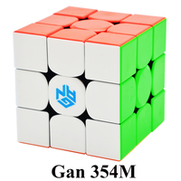 GAN354M 3x3x3 Magic Cube Stickerless With Magnetic Gan 354 M Puzzle Speed Cube For WCA Professional Cubo Magico Gan 354 M Toys