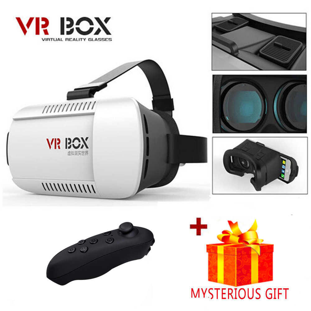 Vrbox Casque VR Box Headset Video 3 D 3D Virtual Reality Glasses Goggles Smartphone Helmet Smart Lens Google Cardboard Cardbord