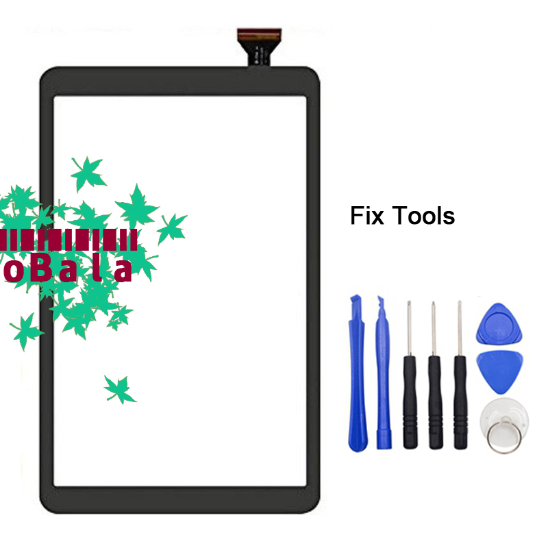 1Pcs Touch Screen Panel For Samsung Galaxy Tab A 10.1 2016 T580 T585 T587 Touch Screen Digitizer Front Glass+Adhesive+Tools blackview e7 touch screen high quality glass panel touch screen digitizer for blackview e7s mobile phone with repair tools