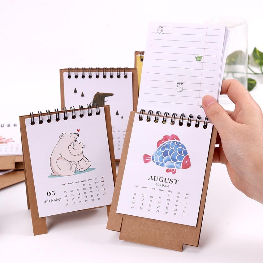 Kalender, Planer Und Karten Schöne Neue 2019 Kalender Cartoon Zeichen Desktop Papier Kalender Dual Täglichen Scheduler Tisch Planer Jährlich Agenda Organizer Kalender