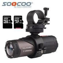 Caméra sous marine daction de caméra imperméable à leau S20w de SOOCOO Sport Onderwater balle noire pour vélo casque de pistolet de vélo avec boîte